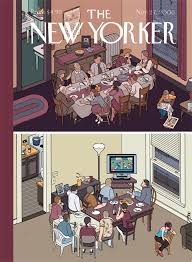 the new yorker thanksgiving covers by chris ware