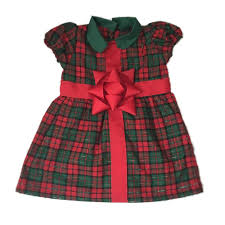 Christmas Plaid Bow Dress Best Dressed Tot