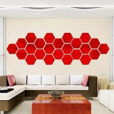 diy livingroom decor aliexpress com buy 12 pieces hexagonal wall decoration acrylic