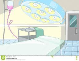 cartoon background of operating room interior stock illustration
