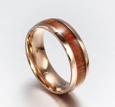 wood inlay wedding band ksfn 0613 design gold wood inlay tungsten ring