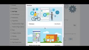 how to change your facebook page template youtube