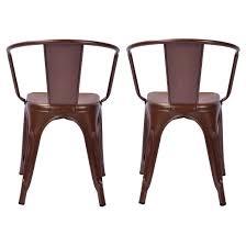 Metal Leg Dining Chairs Carlisle Metal Dining Chair Brown Set Of 2 Target