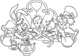 free printable alice wonderland coloring pages