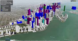 City Of Miami Zoning Map by Miami 3d Map Vivid Maps