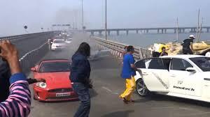 audi r8 caught fire at mumbai car rally youtube