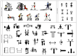 gym equipment plans cad decorin