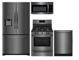 gray kitchen cabinets with black stainless steel appliances kitchen appliance packages appliance bundles at lowe s