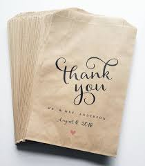 custom favor bags wedding candy buffet brown kraft favor bags calligraphy script