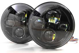 halo jeep wrangler jeep wrangler led headlights by jw speaker and truck lite at