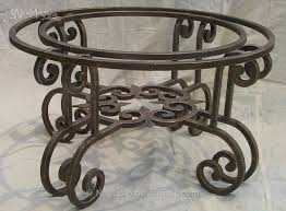 coffee table with iron base wrought iron coffee table base no mas productions