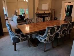 upholstered dining room chairs with wooden table house interior