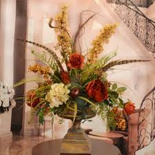 silk flower arrangements floral home decor large silk flower arrangement with feathers