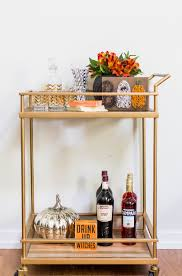 halloween decorations ideas bar carts