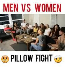 Pillow Fight Meme - men vs women pillow fight meme on me me