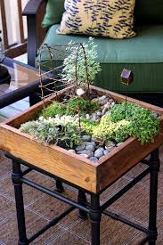 Garden Coffee Table Creating A Miniature Garden On The Coffee Table Is Interior