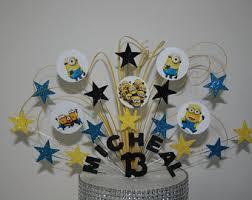 minion birthday cake ideas minion cake topper etsy
