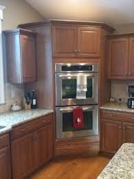 Double Wall Oven Cabinet Built In Corner Wall Oven Rooms We Like Pinterest Corner