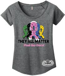 ribbon shirt dreaming of three they all matter cancer ribbon shirt