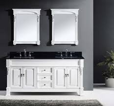 Bathroom Vanities Granite Top 72 Huntshire Bathroom Vanity In White With Black Galaxy