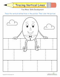 tracing vertical lines worksheets motor skills and