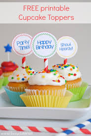 cupcake toppers free printable birthday cupcake toppers clutter