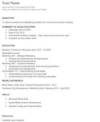 resume sample for college graduate resume college