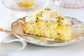 passionfruit u0026 coconut cake