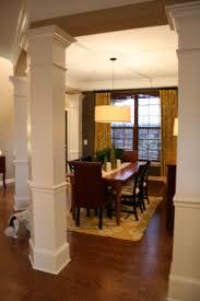 dining room columns stunning the bozeman bungalow columnsdone 22