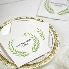 wildflower seed packets wildflower seed packet favor with greenery wreath by ovo bloom