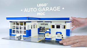 lego custom moc auto garage service station youtube