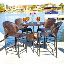 Outdoor Patio Furniture Bar Height Chic Patio Height Dining Set With Bar Height Patio Table To