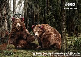 jeep print ads chrysler germany jeep bear meerkat wolves adeevee