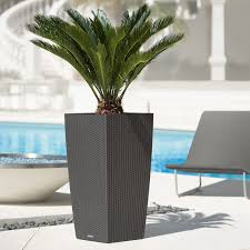 modern outdoor planters twista tall inch pots ideas on concrete