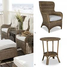 Wingback Wicker Chair Outdoor Furniture Coastal Style Diy Decorator
