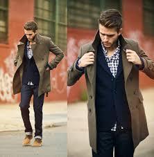 men u0027s olive overcoat navy wool blazer navy and white gingham