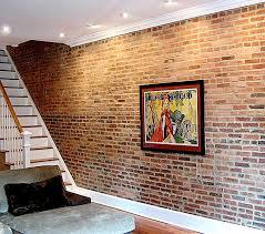 brick paneling indoor home design