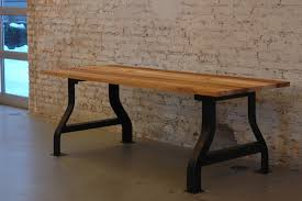 Reclaimed Wood And Iron Dining Table Reclaimed Elm Conference Table 100 Mile Table Moss Design