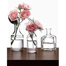 Mini Vases Bulk Amazon Com Small Cut Glass Vases In Differing Unique Shapes Set