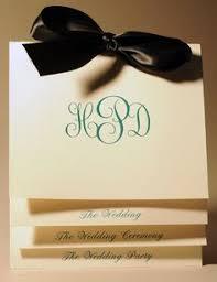Wedding Program Printing Wedding Program Booklet Tied With Ribbon Single Color