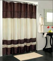 Shower Curtain Striped Brown And White Shower Curtain Striped Chocolate