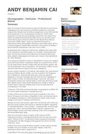 Dance Resume Templates Dance Resume Template