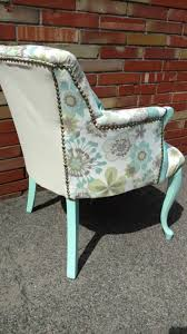 furniture awesome vintage velvet chair green club chair blue