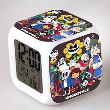 undertale alarm clocks color change digital alarm clock flashing