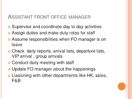 Front Desk Hotel Responsibilities Hotel Front Office Department Hierarchy Functions