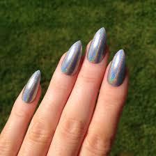 holographic silver stiletto nails nail designs nail art nails