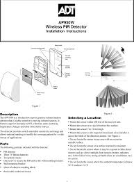 788c pir passive infrared motion detector user manual utc