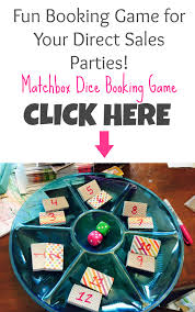 matchbox dice booking game for your direct sales parties gaming