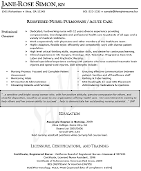 best nursing resume examples resume example and free resume maker