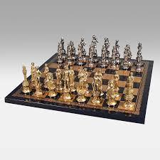 Chess Sets 3d Fantasy Pewter Chess Set Hayneedle